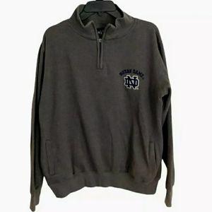 NOTRE DAME Fighting Irish 1/4 Zip Sweatshirt Sz L